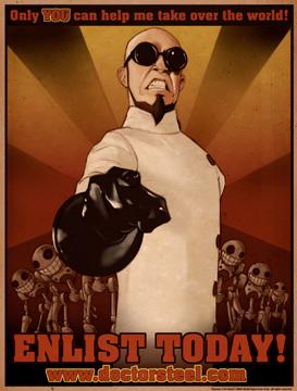 Propagandaposter för Doctor Steel